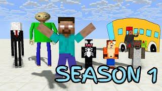 Download Monster School : SEASON 1 ALL EPISODE - Minecraft Animation Video