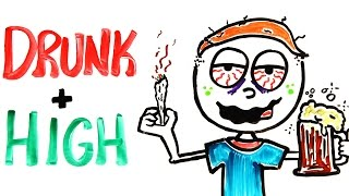 Download What Happens When You're Drunk AND Stoned At The Same Time? Video