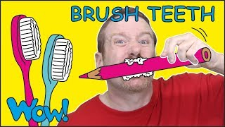 Download Brush your Teeth Song Story for Kids from Steve and Maggie NEW | Free Speaking Wow English TV Video