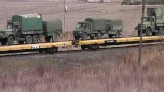 Download CP Rail Military train March 30, 2010 Video