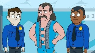 Download Jake Roberts recalls when his snake escaped at an airport on WWE Story Time, only on WWE Network Video