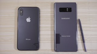 Download iPhone X vs Galaxy Note 8 - Speed Test! Which one is BEAST?! (4K) Video