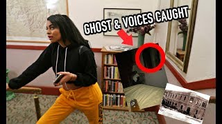 Download STAYING THE NIGHT IN A HAUNTED HOTEL! Video