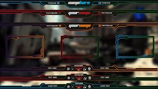 Download Free Twitch Overlay Template Pack # 1 Video