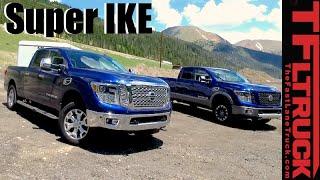 Download 2016 Nissan Titan XD Gas V8 vs Diesel V8 vs Super Ike Gauntlet Review: Battle of the Titans Video