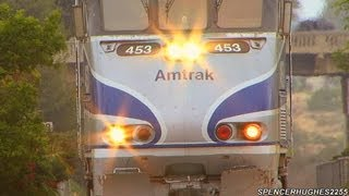 Download Amtrak & Coaster Trains in Carlsbad Village - (June 1st, 2013) Video