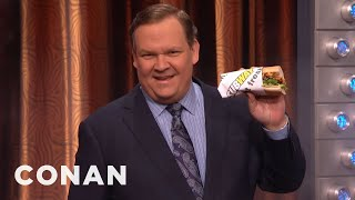 Download Andy Richter Rips Through Space & Time For A Subway Sandwich - CONAN on TBS Video