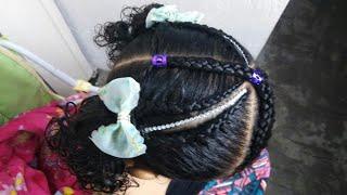 Download Peinados para niña / trenzas 2 coletas Video