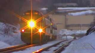 Download MBTA F40PH-2C #1055 And GP40MC #1115 Absolutely ROAR Through Cross Road!!! Video