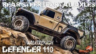 Download LAND ROVER DEFENDER 110 WALKTROUGH | MD PORTALS | ULTIMATE 4WD | REAR STEER | ALLOFFROAD#136 Video