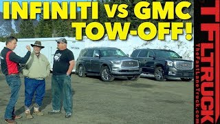 Download Which Tows Better? 2018 Infiniti QX80 vs GMC Yukon Denali vs World's Toughest Towing Test Video