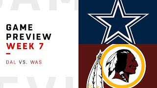Download Washington Redskins vs. Dallas Cowboys | Week 7 Game Preview | NFL Playbook Video