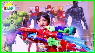 Download Marvel Avengers Infinity War Superhero Toys Hide and Seek with Ryan ToysReview Video