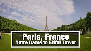 Download City Walks: Paris, France - Notre Dame to Eiffel Tower Video
