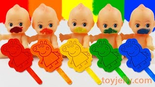 Download Learn Colors Play Doh Rainbow Peppa Pig Popsicles Ice Cream Paint Baby Doll Finger Family Song Video