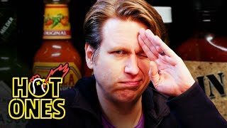 Download Pete Holmes Does Improv While Eating Spicy Wings | Hot Ones Video