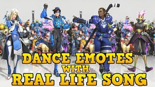 Download ❤ ALL NEW DANCE EMOTES WITH SONGS THAT SYNCED (Mostly) | Overwatch: Anniversary ❤ Video