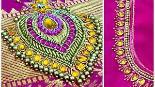 Download Kundan Jewelry Design In Hand Embroidery!!! Video