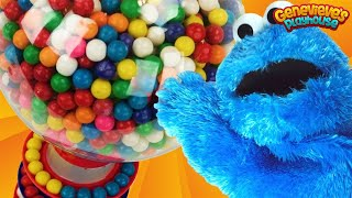 Download Learning Videos for Kids: Cookie Monster Teaches Toddlers Colors Gumballs Machine! 4K Movie! Video
