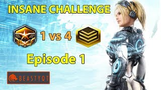 Download StarCraft 2: Grandmaster 1 vs 4 Gold Players - INSANE Challenge - Episode 1 Video