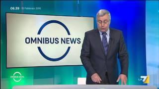 Download Omnibus News Prima Parte (Puntata 10/02/2016) Video