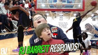 Download RJ Barrett Responds To Getting CROSSED By Dunking EVERYTHING! Takes BOW After 37 Point Performance! Video