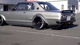 Download Nissan Skyline GT-R KPGC10 and S30 Fairlady Z (240Z) Sound of the old Times Video