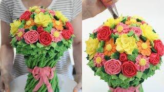 Download Flower Bouquet Cake! Video
