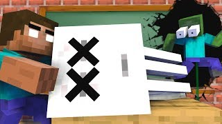 Download MONSTER SCOOL : GHAST BECAME EVIL VILLAIN , RIP GHAST - Minecraft Animation Video