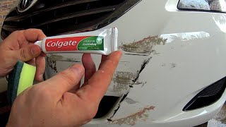 Download How to remove scratches from the car at home Using toothpaste - How to Fix scratches on car Video