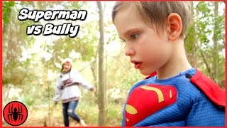Download Superman vs Bully Girls vs Boys Toys w Cleaning Lady's Dream in real life Superhero Kids Video