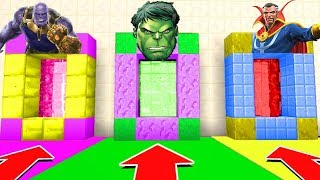 Download Minecraft PE : DO NOT CHOOSE THE WRONG SECRET BASE! (Thanos, The Hulk, Doctor Strange) Video