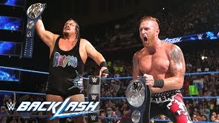 Download Rhyno & Heath Slater are in shock following SmackDown Tag Team Title victory: Backlash 2016 Video