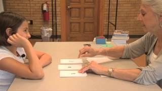 Download Susan Nolan teaching an Orton Gillingham lesson with a dyslexic child Video