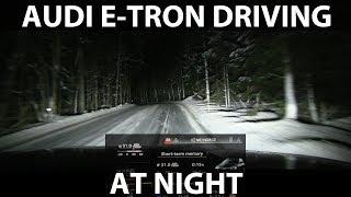 Download Driving Audi e-tron in the dark Video