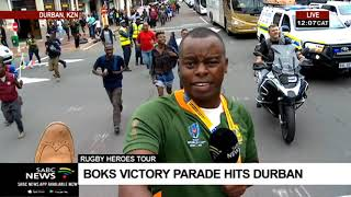 Download RWC Trophy tour   UPDATE - Durban abuzz with #Bokkephoria Video