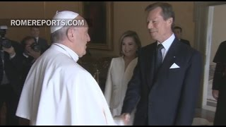 Download Royal family of Luxembourg visits Pope Francis Video