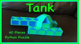 Download Smiggle Python Puzzle or Rubik's Twist 60 Tutorial: How to Make a Tank Shape, Step by Step Video