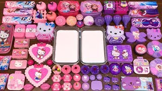 Download Special Series #34 PURPLE vs PINK ELSA and HELLO KITTY !! Mixing Random Things into GLOSSY Slime Video