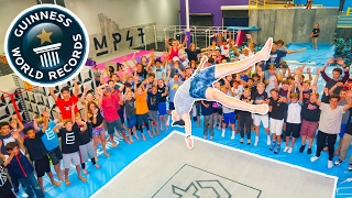 Download BREAKING SUPER TRAMPOLINE WORLD RECORDS AT WORLD'S MOST FAMOUS TRAMPOLINE PARK!! (14 CODYS) Video