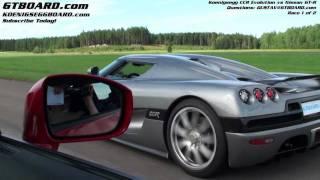 Download HD : Nissan GTR vs Koenigsegg CCR Evolution Race 1/2 Video