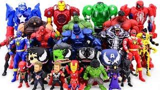 Download Power Rangers & Marvel Avengers Toys Pretend Play | Super Hero vs Hulk Red Hulk Army Video