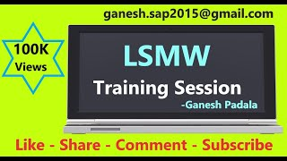 Download SAP LSMW session 1 by Ganesh Padala Video