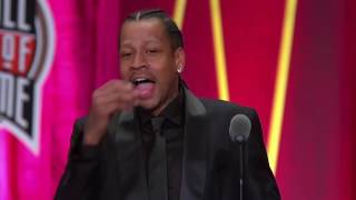 Download Allen Iverson thanks Shaq, Kobe and talks about Tyronn Lue in his Hall of Fame speech (2016) Video