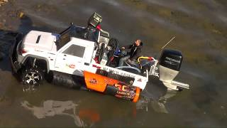 Download RC ADVENTURES - Amphibious Car Challenge - PADDLE POWER? Will iT SiNK? TRUCK-BOAT TOYBOTA! Video