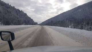 Download BigRigTravels Lookout Pass to Cabin City, Montana Interstate 90 East-Feb. 19, 2018 Video