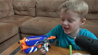 Download Nerf Vs Wild Lizard! Crazy Lizard Toy Runs Wild and the Boys take Action with Nerf Blasters! Video