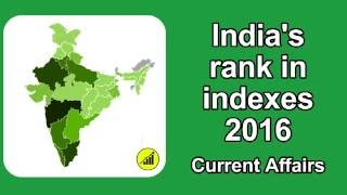 Download India ranking in world - Indexes 2016 - Current Affairs Video
