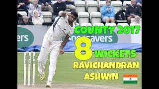 Download Ravichandran Ashwin 8 Wickets In County Debut - September 1 County Championship 2017 Video
