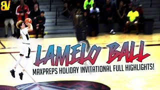 Download LaMelo Ball Shoots From Wherever He Wants... | FULL HIGHLIGHTS MaxPreps Holiday Invitational Video